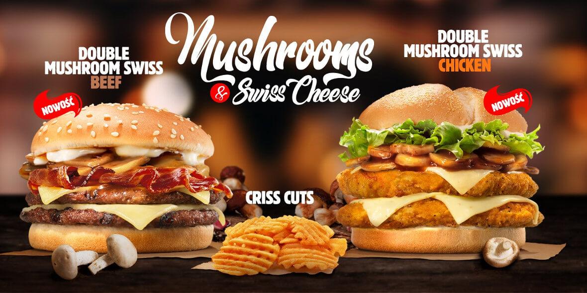 Double Muschroom Swiss beef kanapka burger king recenzja
